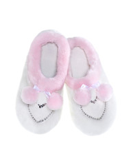 home slippers heart white and pink isolated on white