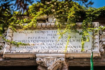 The house of Christopher Columbus  - Genova, Italy, Europe