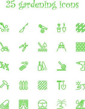 minimalistic gardening icons
