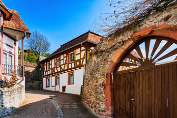 Beautiful half timbered in Zwingenberg on the Bergstrasse, Germany