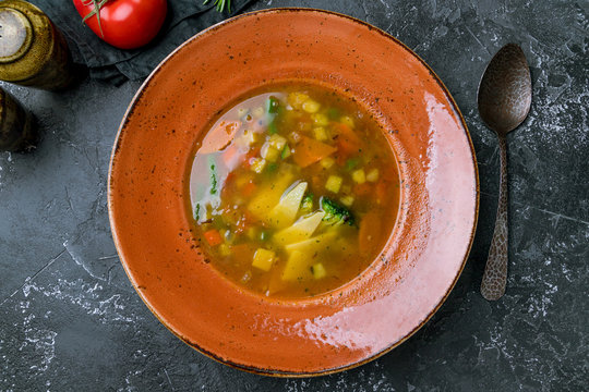 Vegetable soup minestrone