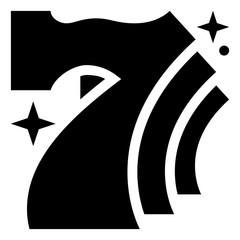 Lucky Sevens Jackpot Vector Icon