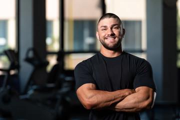 Handsome Man Posing In Black T-shirt