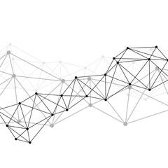 White neural network illustration