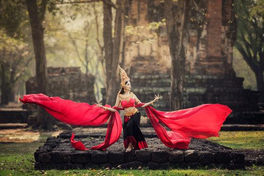 Aspara Dancer Angkor Wat in the ASEAN culture Traditional Concept , at Angkor wat, SiemReap, Cambodia