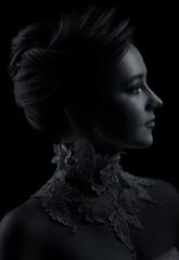 Low key female portrait