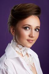 Close up beauty elegant portrait