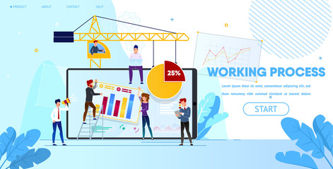 Working Process of People Making Web Page Design