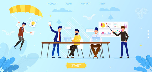 Creative People in Office Working Together. Idea.