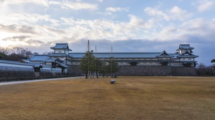 Wall Mural - Time lapse of Kanazawa Castle in Kanazawa, Japan.