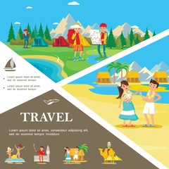Flat Summer Travel Colorful Template