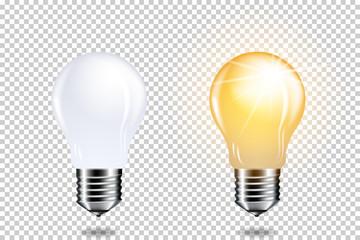 Wall Mural - set of light bulbs