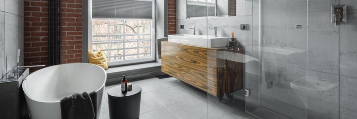 Industrial style bathroom