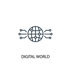 digital world icon. Simple element illustration. digital world concept symbol design. Can be used for web and mobile
