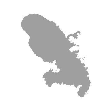Martinique map vector silhouette