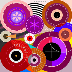 Canvas Prints Abstract Art Wheels abstract art vector illustration