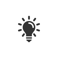 Light bulb icon in simple design