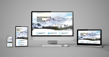 responsive devices isolated responsive design homepage mountain Wall mural