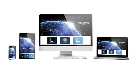 Wall Mural - responsive devices isolated design homepage
