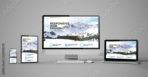 Wall mural responsive devices isolated responsive design homepage mountain