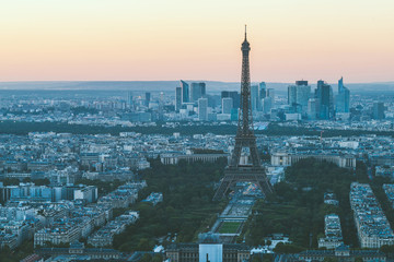 Paris, Eiffel tower at evening, France, Europe