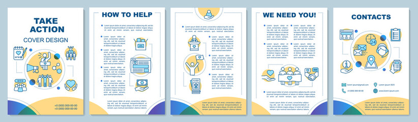 Volunteering activity brochure template layout