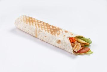 shawarma on a white background