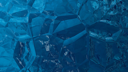 Abstract Dark Blue Crystal Background