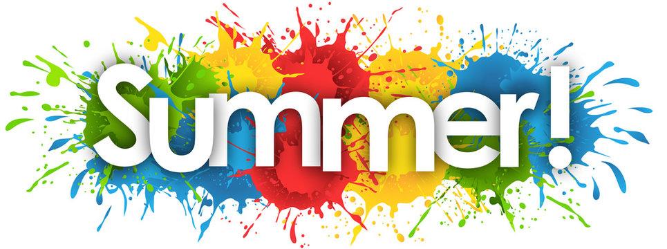 summer word in splash's background