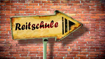 Fototapete - Schild 380 - Reitschule
