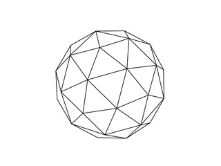 Fototapeta Geodesic sphere illustration vector