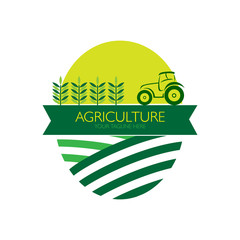 Agriculture with tractor logo