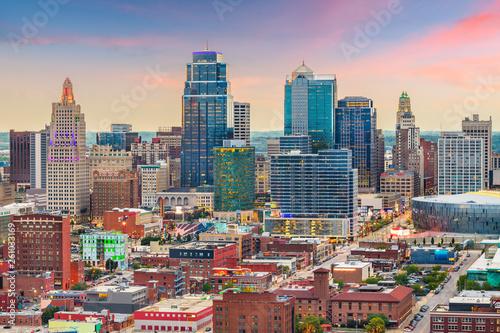 Fototapete Kansas City, Missouri, USA downtown cityscape
