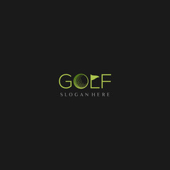 Golf Sport Brand Text Creative Logo Design