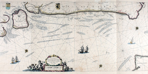 Ancient navigation map.