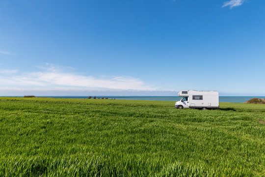 Motorhome on the road holiday