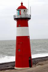 Alter Leuchtturm an der Nordssee bei Westkapelle (Niederlande)