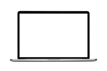 Laptop or notebook with clipping path on white background