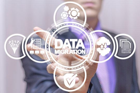 Data Migration concept.