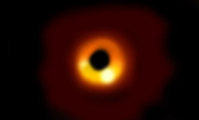 simulatin of a black hole in the space