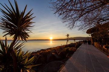 Sunset, Bracciano Lake, Rome, Italy