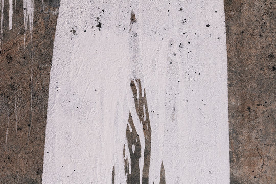 Paint Splat on Grungy Wall