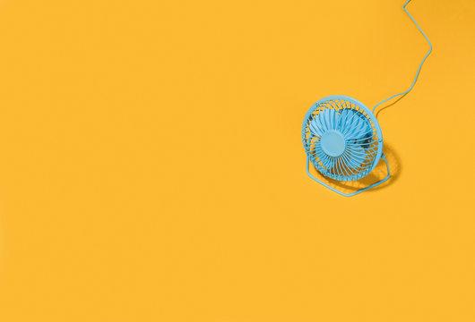 Blue fan.