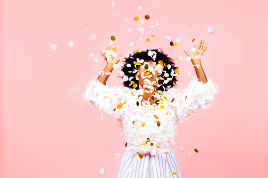 Confetti throw- celebrate success and happiness