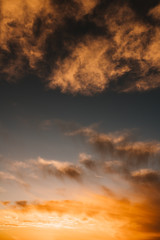 colored sunset sky