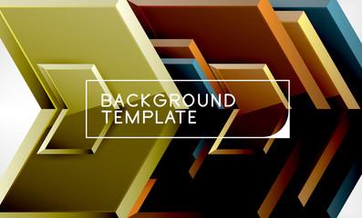 Techno arrow background, template design Wall mural