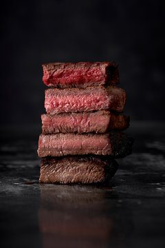 Cooked Steak to Different Temperatures