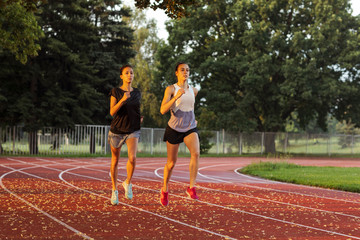 Training partners jogging together