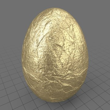 Wrapped easter egg