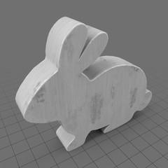 Sitting bunny statue